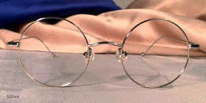Front view of Signature Metal Rounds silver eyeglasses