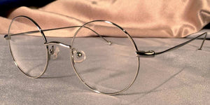 Side view of Signature Metal Rounds silver eyeglasses