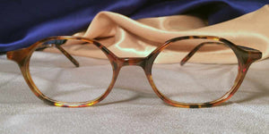 Front view of Trumpets tortoiseshell hexagon eyeglasses