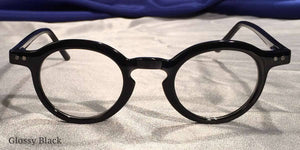 Front view of Westminster Halls glossy black eyeglasses