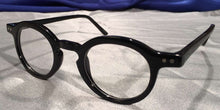 Side view of Westminster Halls glossy black eyeglasses