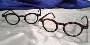 View of Westminster Halls tortoiseshell and black eyeglasses set
