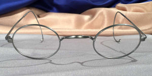 Front view of Windsors pewter eyeglasses