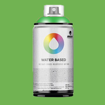 Montana water based spraypaint brilliant green