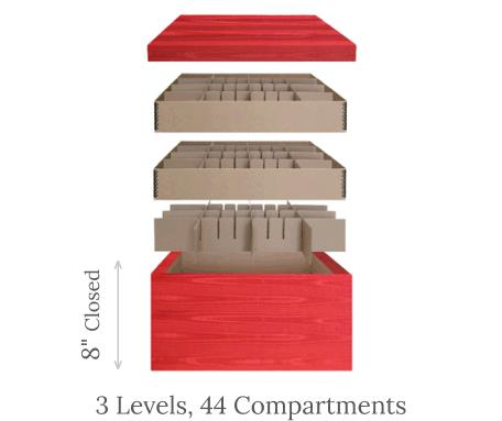 Ultimate Ornament Chest<br>3 Trays, 100 Compartments scheme