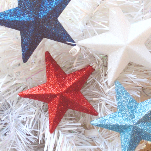 Glitter stars 4th of July DIY