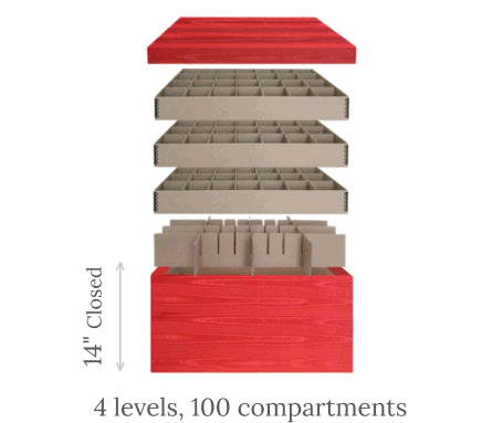 Ultimate Ornament Chest<br><span>4 levels, 100 compartments</span> scheme