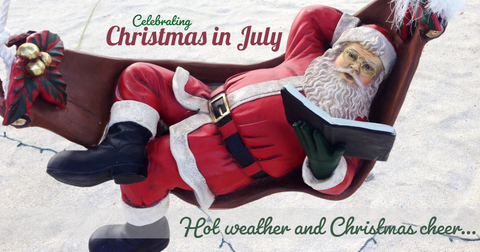 Christmas in July beach Santa