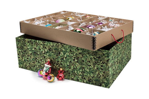 Ultimate Christmas Green Leaf Decorative Storage Box