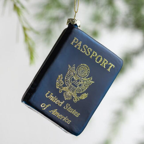 Passport travel ornament christmas