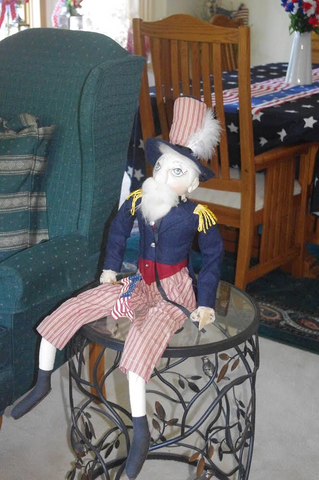 Patriotic Uncle Sam decoration