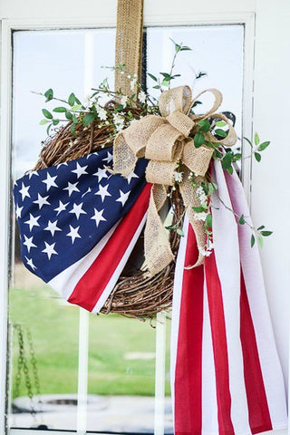 Patriotic Wreath American Flag
