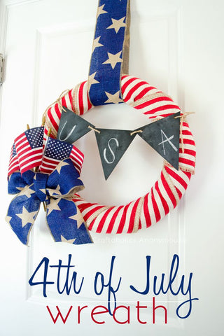 Patriotic Wreath 4th of July