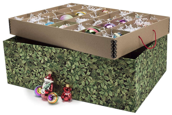 Ultimate Ornament Box - Green S-Leaves