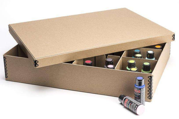 "16 Compartment Archival Storage Box, 4"" High"