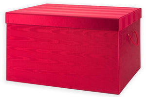 Ultimate Ornament Chest - Red Moire Stripe