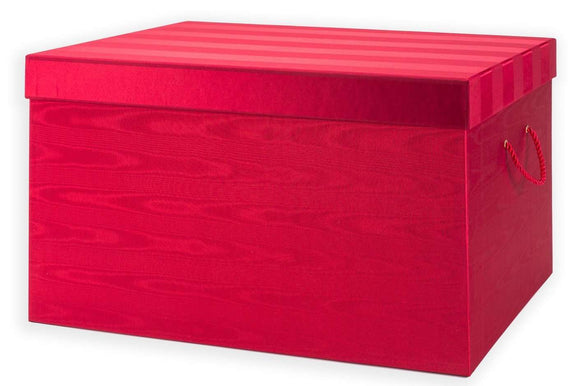 Ultimate European Ornament Chest - Red Moire Stripe