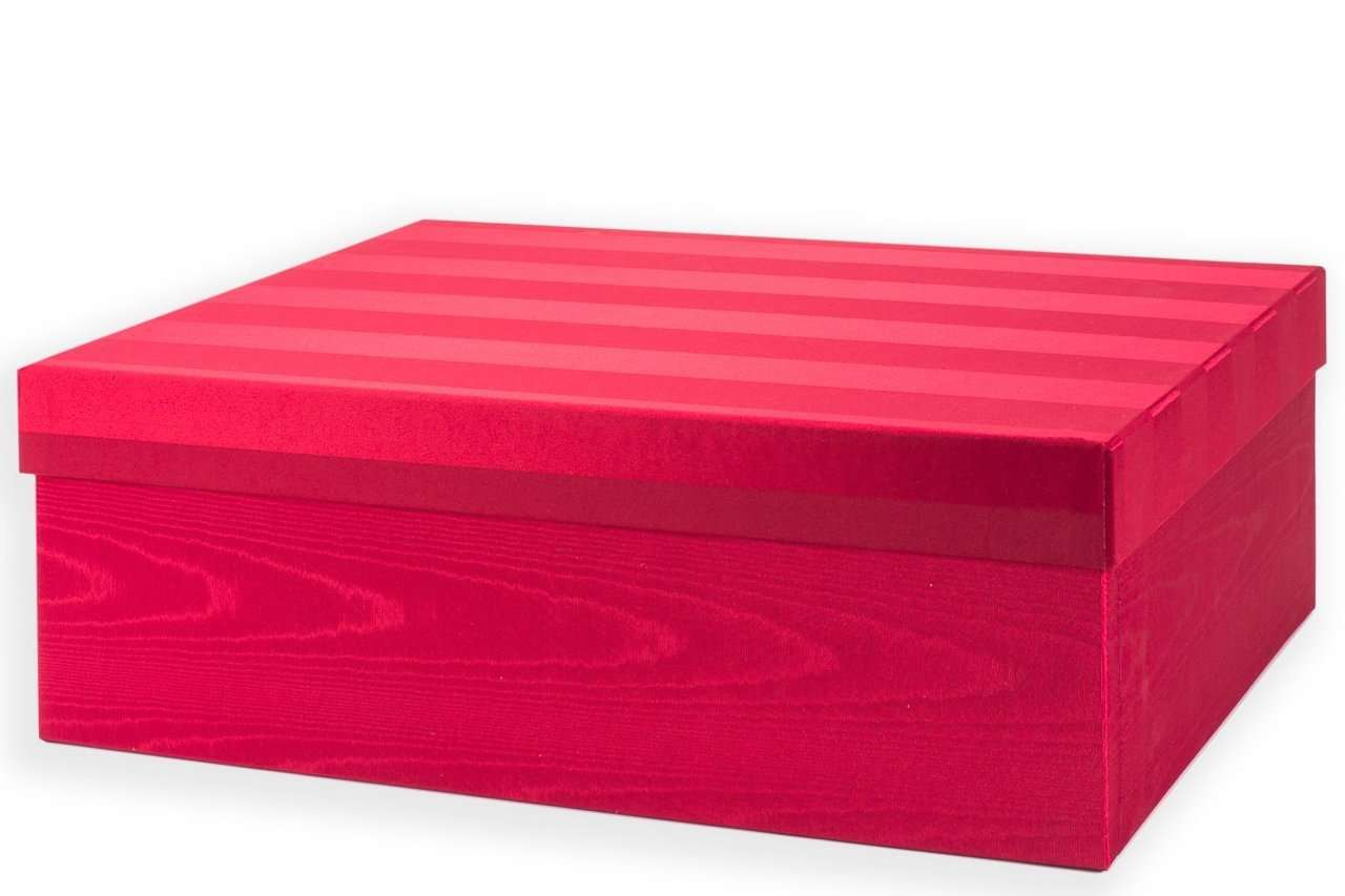 Etonnant ... Christmas Ornament Storage   Ultimate Ornament Box   Red Moire Stripe  ...