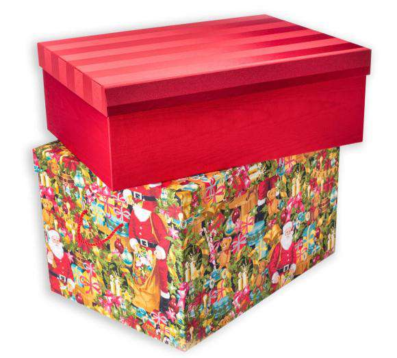 Premium Fabric Covered Ornament Boxes Ultimate Christmas Storage