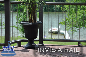 InvisARail is now available with 316 Marine Grade Stainless Steel