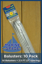 10 Pack Balusters 316 Stainless Steel Marine Grade