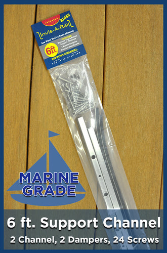 6 ft Support Channel Kit - 316 Stainless Steel Marine Grade