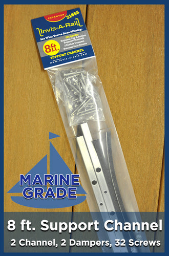 *8ft Support Channel Kit - 316 Stainless Steel Marine Grade
