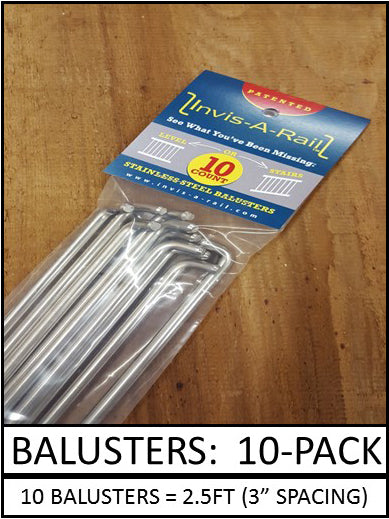 Stainless Balusters - 10 pack | InvisARail®
