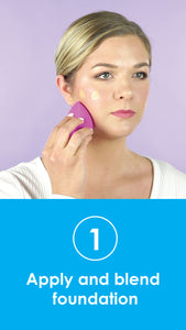 Apply and blend foundation using Practk Power Blender