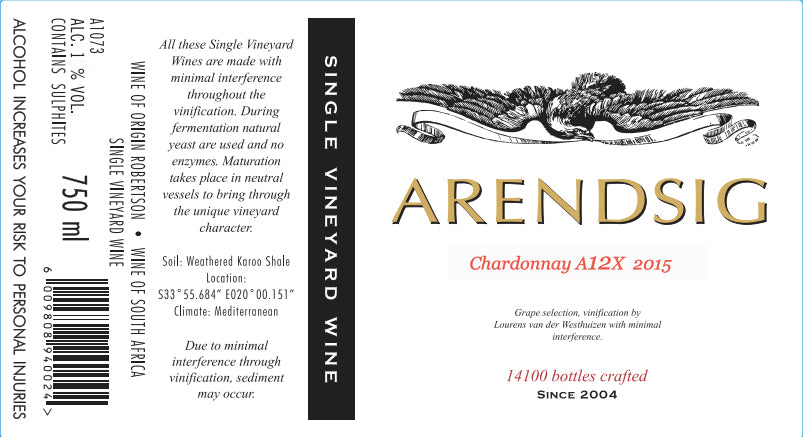 Arendsig Chardonnay Block 5 - Single Vineyard Wines