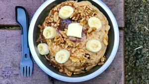Easy Camping Meals: Banana Walnut Pancakes!