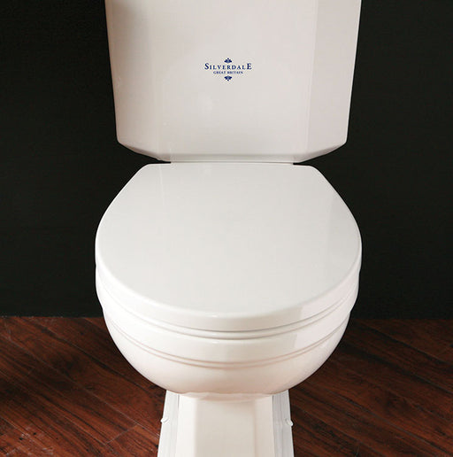 Silverdale Acrylic Soft Close Toilet Seat for Close Coupled/Back To Wall/Wall Hung Toilet
