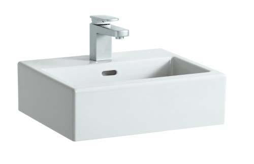 Laufen Living City Basin - All Sides Glazed One tap hole - White
