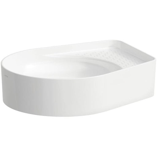 Laufen Val Washbasin Bowl with semi-wet area 50 x 40cm - White