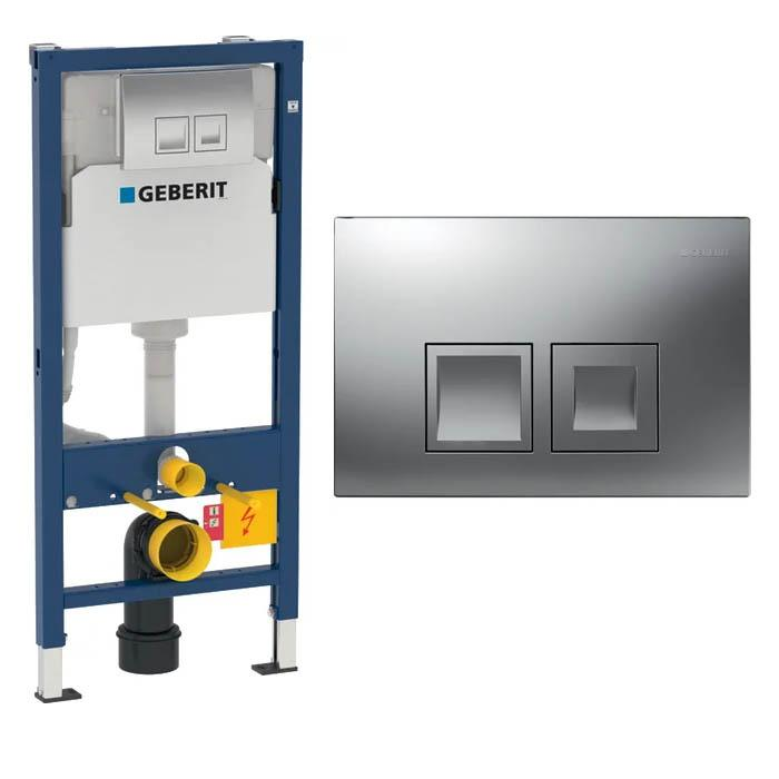 Geberit Delta 50 WC Frame and Flush Plate Packs for wall-hung WC and cistern