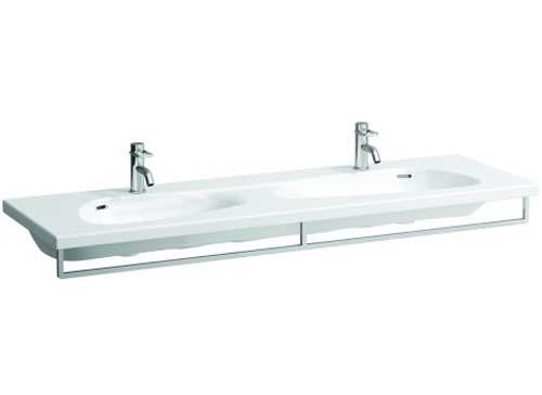 Laufen Palomba Double Countertop Basin 160 x 50cm Two tap hole (one per bowl) - White