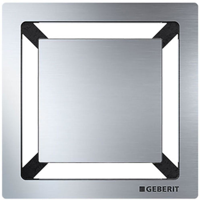 Geberit Square Design Grating - Brushed Stainless Steel - 8 x 8 cm