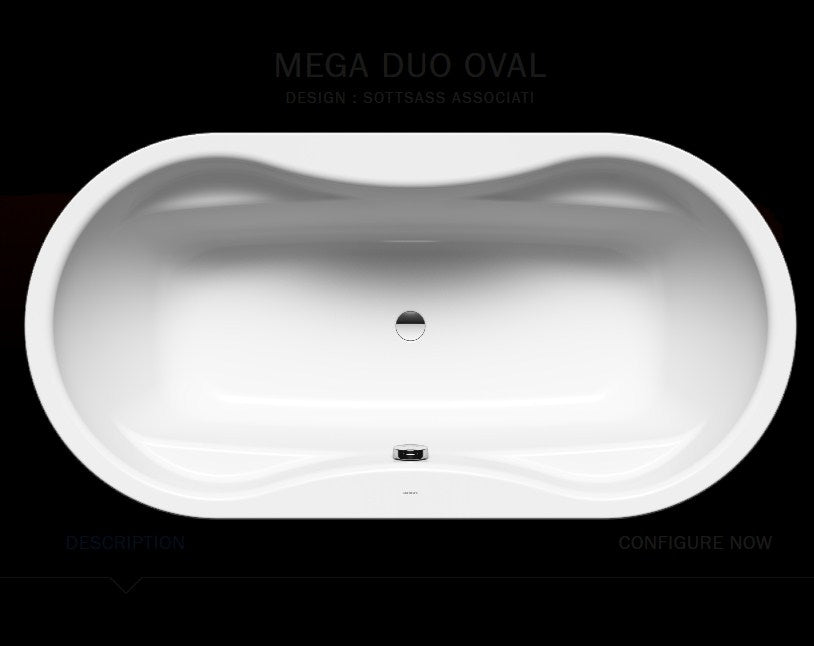 Kaldewei Avantgarde Mega Duo Oval Baths
