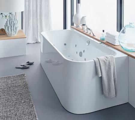 Duravit Happy D.2 Back-to-wal 1800mm Bathtub with 2 backrest