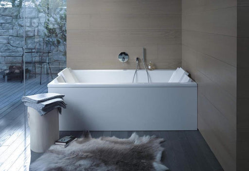 Duravit Starck built-in Rectangle Bathtub with 2 backrest