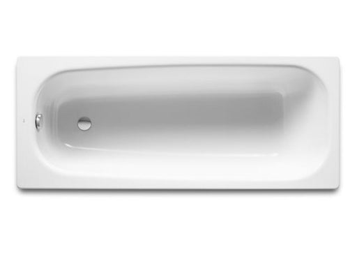 Roca Contesa ECO Rectangular Steel Bath - 2 Tap Holes - White