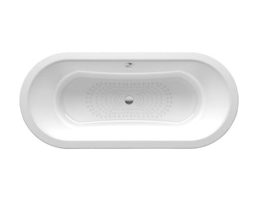 Roca Duo Double Ended Oval Steel Bath - 0 Tap Hole - White