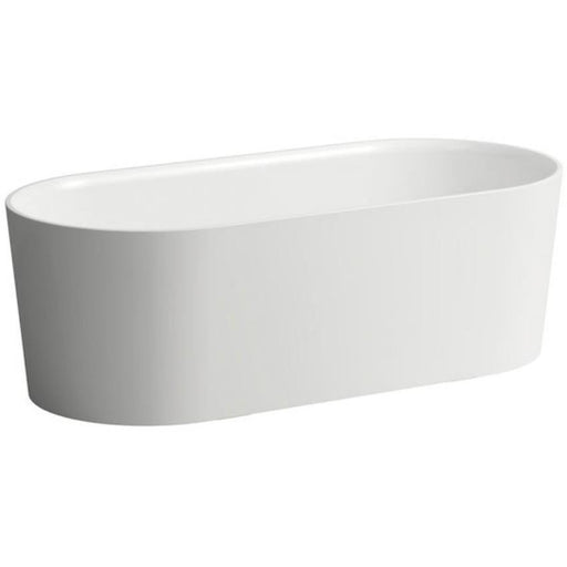 Laufen Val Freestanding Bathtub 160 x 76cm with integrated overflow and feet - White