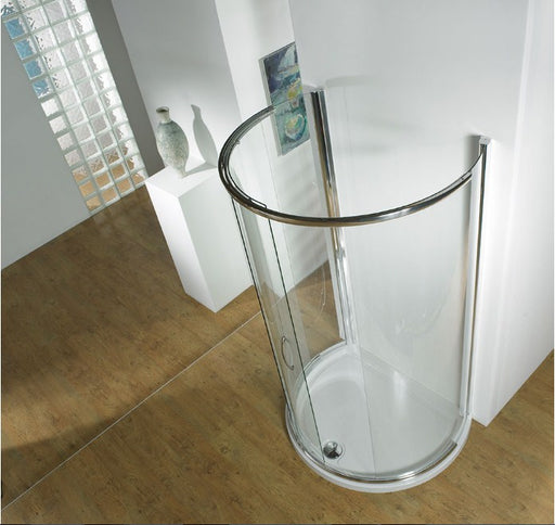 Kudos Infinite Semi-Frameless Curved Peninsular Slider 1200 x 910mm - Silver Frame