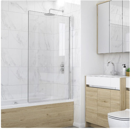 Kudos Single Panel Bath Screen 1500 x 850mm - Silver