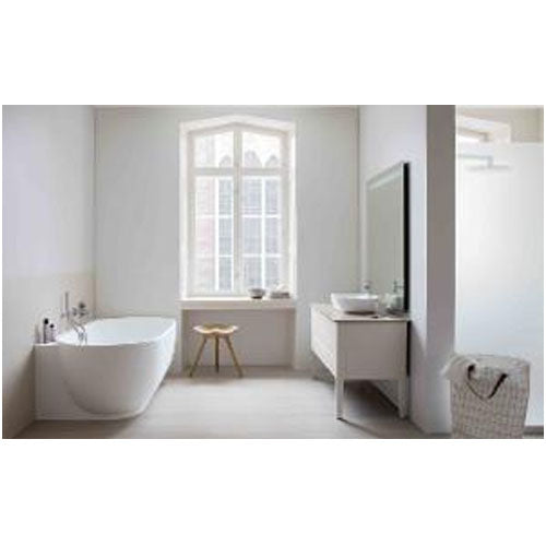 Duravit Luv 1850mm Back-to-wall Bathtub with 2 backrest