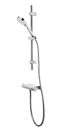 Tavistock Quantum Exposed Thermostatic Bar Shower with Accessory Shelf and Slide Rail Kit