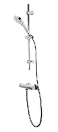 Tavistock Quantum Exposed Thermostatic Bar Shower with Slide Rail Kit