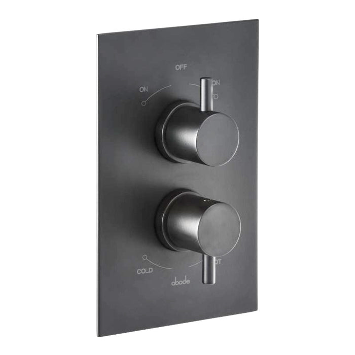 Abode Harmonie Concealed Thermostatic Shower Valve  - Matt Black