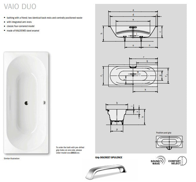 Kaldewei Ambiente Vaio Duo Baths